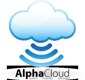 alpha cloud logo